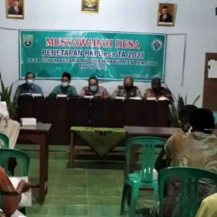 Musdes RKP-Desa Gunem TA 2021